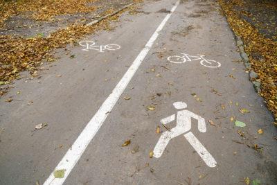 walk/bike pedestrian lane