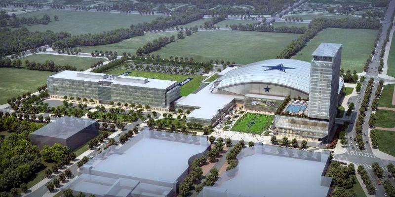 Aerial View of Baseball Stadium Frisco Texas