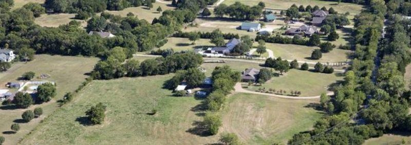 Aerial View of homes in Lucas Texas