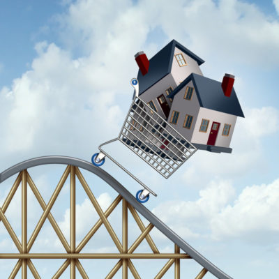 Mini house in a roller coaster